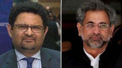Muftah Ismail and Shahid Khaqan Abbasi