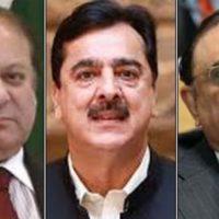 Nawaz Sharif,Yousuf Raza Gilani,Asif Ali Zardari