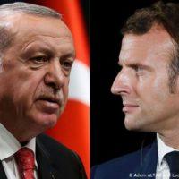 Recep Tayyip Erdogan and Emmanuel Macron