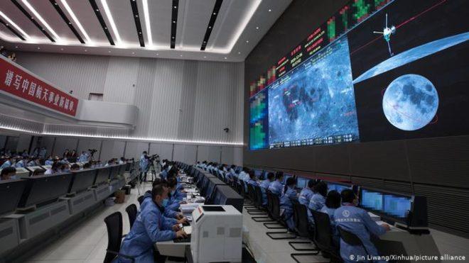چینی خلائی جہاز چاند سے پتھروں کے نمونے لے کر زمین پر واپسی کی تیاری میں