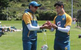 نیوزی لینڈ آمد کے بعد پاکستانی کرکٹرز نے ٹریننگ کا آغاز کر دیا