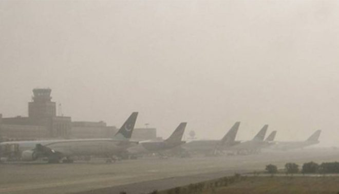 لاہور: دھند کے باعث اندرون و بیرون ملک جانیوالی پروازوں کا شیڈول متاثر
