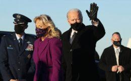 تقریب حلف برداری: نومنتخب صدر جوبائیڈن اور کاملہ ہیرس واشنگٹن پہنچ گئے
