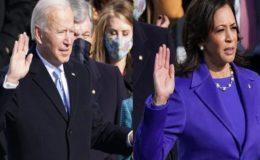 جوبائیڈن امریکا کے معمر ترین صدر اور کملا ہیرس پہلی خاتون نائب صدر بن گئیں