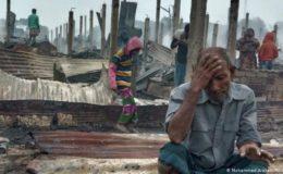 بنگلہ دیش: ہزاروں روہنگیا مہاجرین کے گھر جل کر تباہ