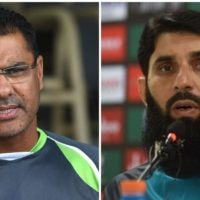 Waqar Younis and Misbah