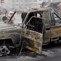 Afghanistan Wagon Fire