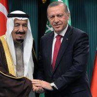 Salman bin Abdulaziz Al Saud and Tayyip Erdogan