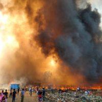 Fire in Rohingya Refugee Camp