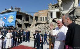 پاپائے روم شمالی عراق کے دورے پر