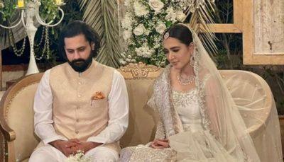 Mansha Pasha and Jibran Nasir