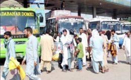 سندھ حکومت نے بین الصوبائی پبلک ٹرانسپورٹ پر پابندی عائد کر دی