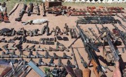 وادی تیرہ میں سیکیورٹی فورسز کی کارروائی، بھاری ہتھیار اور گولا بارود برآمد