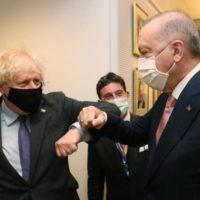 Boris Johnson and Tayyip Erdogan