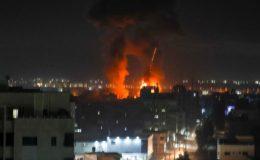 سیز فائر کے بعد اسرائیل کے غزہ پر پھر فضائی حملے، کشیدگی میں اضافہ