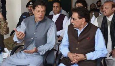 Imran Khan and Raja Farooq Haider