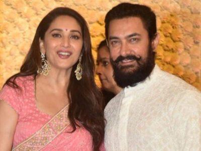 Madhuri Dixit and Aamir Khan