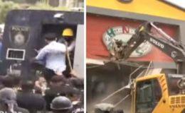 کراچی: سپریم کورٹ کے حکم پر تجاوزات کیخلاف آپریشن، مظاہرین اور پولیس کی جھڑپیں