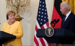 جرمن چانسلر اور امریکی صدر کے درمیان اہم امور پر بات چیت