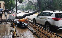 چین میں سیلاب کی تباہ کاریاں، ہلاک شدگان کی تعداد 33 ہو گئی