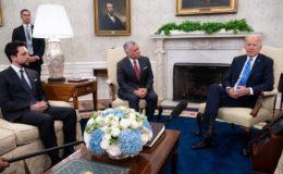 امریکی صدر بائیڈن کا شاہ عبداللہ دوم سے مشرقِ اوسط کی تازہ صورت حال پر تبادلہ خیال