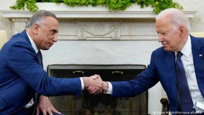 Joe Biden and Mustafa al-Kadhimi