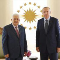 Mahmoud Abbas and President Erdogan