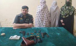 صوابی کی عدالت میں اسلحے کے ساتھ داخل ہونیوالی دو خواتین گرفتار