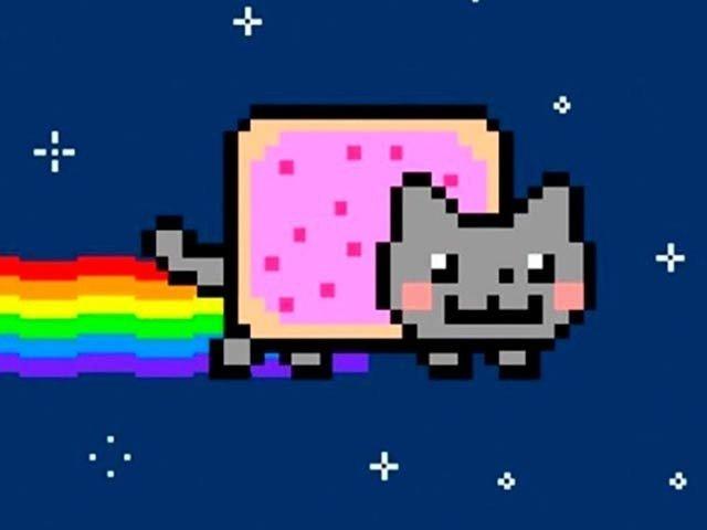 رنگ چھوڑتی بلی کی دس سال پرانی ویڈیو 5 لاکھ 87 ہزار ڈالر میں فروخت