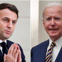 Joe Biden and Macron