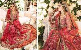منال خان کا عروسی لباس کہاں اور کتنے کاریگروں نے تیار کیا؟