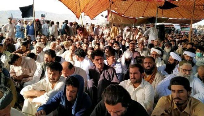 زیارت میں شہید لیویز اہلکاروں کے ورثاءکا دھرنا پانچویں روز بھی جاری