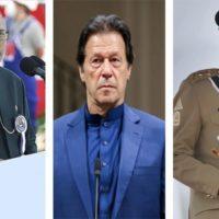 Arif Alawi,Imran Khan,Qamar Javed Bajwa